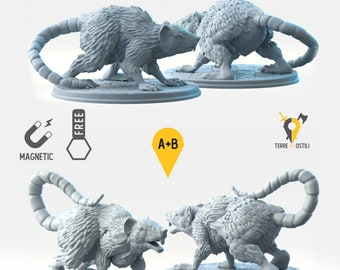 Rat miniature Dungeons and dragons, DnD , Age of Sigmar, W40k, 9th Age, kow, mordheim | RPG tabletop miniature