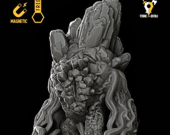 Earth Elemental magnetic DnD miniatures | Dungeons and dragons D&D RPG tabletop miniature paint free initiative tracker