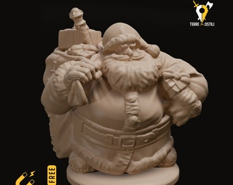 Dwarf santa claus miniature merchant pathfinder, DnD, Dungeons and dragons, Age of Sigmar, frostgrave, mordheim | RPG tabletop miniature