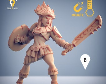 tribe warrior Incas warrior miniature Dungeons and dragons, DnD , Age of Sigmar, W40k, 9th Age, kow, mordheim   RPG tabletop miniature