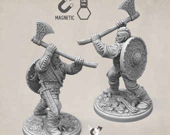 Viking barbarian miniature norse warrior Dungeons and dragons, DnD , Age of Sigmar, W40k, 9th Age, kow, mordheim | RPG tabletop miniature