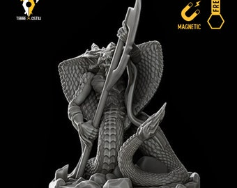 Yuan ti serpentfolk miniature Dungeons and dragons, DnD , Age of Sigmar, W40k, 9th Age, kow, mordheim | RPG tabletop miniature