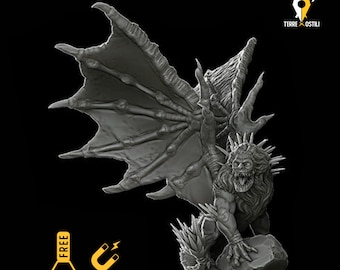 Manticore miniature pathfinder, DnD, Dungeons and dragons, Age of Sigmar, frostgrave, mordheim | RPG tabletop miniature