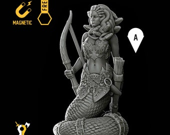 Medusa miniature Dungeons and dragons, DnD , Age of Sigmar, W40k, 9th Age, kow, mordheim | RPG tabletop miniature