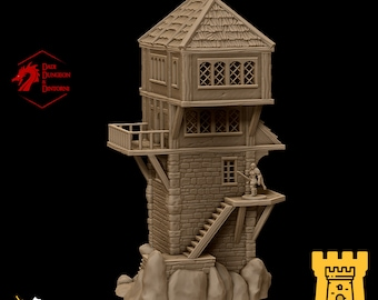 Mage tower observatory alchemist tower terrain building | Medieval fantasy | wargame Scenery | | 28 - 32mm scale |   D&D | Pathfinder