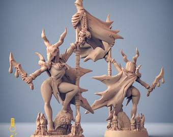 Pinup human kobold queen miniature Dungeons and dragons, pathfinder, DnD , Age of Sigmar, frostgrave, mordheim | RPG tabletop miniature