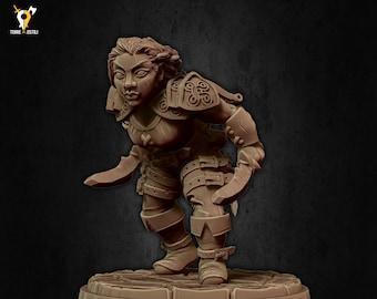 Dwarf rogue ranger spy miniature Dungeons and dragons, pathfinder, DnD , frostgrave, mordheim | RPG tabletop miniature