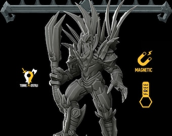 King of blades construct warforged miniature pathfinder, DnD, Dungeons and dragons, Age of Sigmar, frostgrave, RPG tabletop miniature ns
