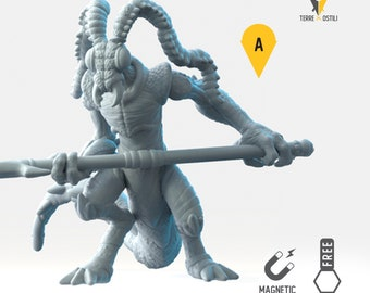 Ice devil miniature Dungeons and dragons, DnD , Age of Sigmar, W40k, 9th Age, kow, mordheim | RPG tabletop miniature