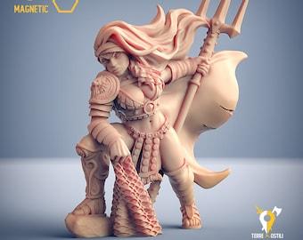 Gladiatrix heroine miniature gladiator Dungeons and dragons, pathfinder, DnD , Age of Sigmar, frostgrave, mordheim | RPG tabletop miniature