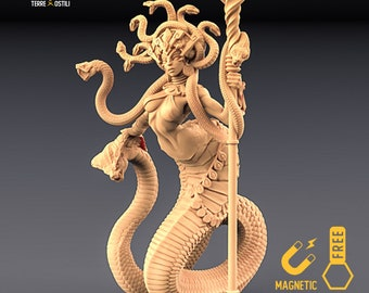 Yuan-ti mother miniature snakefolk queen Dungeons and dragons, DnD , Age of Sigmar, W40k, 9th Age, kow, mordheim | RPG tabletop miniature
