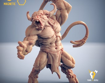 Minotaur slaver whip miniature Dungeons and dragons, pathfinder, DnD , Age of Sigmar, frostgrave, mordheim | RPG tabletop miniature