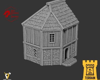 Hostler house village terrain building | Medieval fantasy | Scenery | 28 - 32mm scale |   D&D | Pathfinder