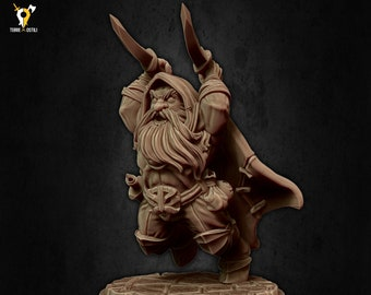 Assassin dwarf rogue miniature Dungeons and dragons, pathfinder, DnD , Age of Sigmar, frostgrave, mordheim | RPG tabletop miniature