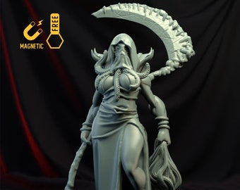 Illithid queen assassin miniature Dungeons and dragons mind flayer, DnD , Age of Sigmar, W40k, 9th Age, mordheim | RPG tabletop miniature
