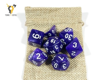 Eldritch Purple 7 Dice Set for DnD, Dungeons and Dragons, Pathfinder, Vampire The Masquerade, RPG as Critical Role| Nerd Gift
