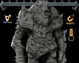 Ogre king miniature pathfinder, DnD, Dungeons and dragons, Age of Sigmar, frostgrave, RPG tabletop miniature ns