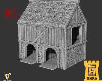 Stable building farmer terrain building | Medieval fantasy | Scenery | 28 - 32mm scale |   D&D | Pathfinder
