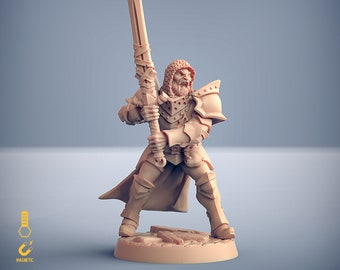 Human knight paladin crusader miniature Dungeons and dragons, pathfinder, DnD , Age of Sigmar, frostgrave, mordheim | RPG tabletop miniature