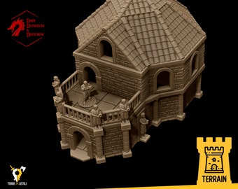 Bath House small temple terrain building | Medieval fantasy | wargame Scenery | | 28 - 32mm scale |   D&D | Pathfinder