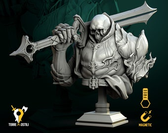 Skeletal knight skeleton  bust resin high quality miniature Dungeons and dragons, Fantasy bust   RPG tabletop