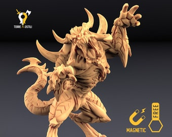 Demon beast miniature Dungeons and dragons, DnD , Age of Sigmar, W40k, 9th Age, kow, mordheim   RPG tabletop miniature