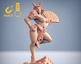 Oni demon pinup miniature Dungeons and dragons, pathfinder, DnD , Age of Sigmar, frostgrave, mordheim | RPG tabletop miniature