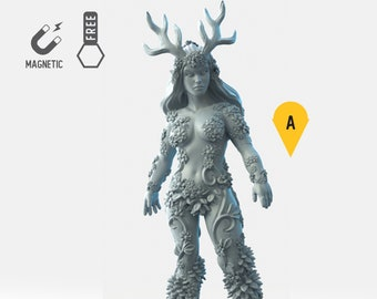 Dryad forest spirit miniature Dungeons and dragons, DnD , Age of Sigmar, W40k, 9th Age, kow, mordheim | RPG tabletop miniature
