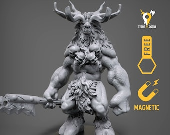 Baphomet Goatfolk miniature Dungeons and dragons, DnD , Age of Sigmar, W40k, 9th Age, kow, mordheim | RPG tabletop miniature