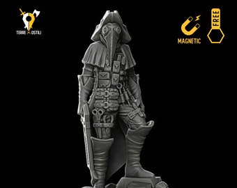 Plague Doctor miniature Dungeons and dragons, DnD , Age of Sigmar, W40k, 9th Age, kow, mordheim | RPG tabletop miniature
