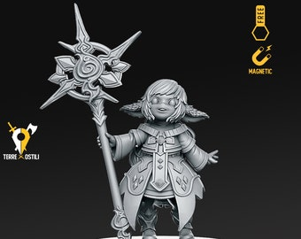 Forest gnome wizard sorcerer miniature Dungeons and dragons, pathfinder, DnD , frostgrave, mordheim | RPG tabletop miniature