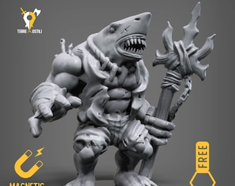 Wereshark miniature Dungeons and dragons, DnD , Age of Sigmar, W40k, 9th Age, kow, mordheim | RPG tabletop miniature