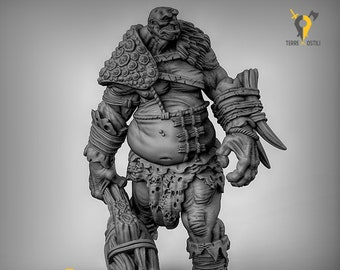 Titan behemoth giant miniature Dungeons and dragons, pathfinder, DnD , Age of Sigmar, frostgrave, mordheim | RPG tabletop miniature