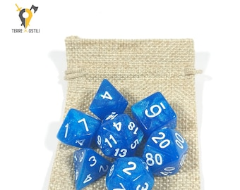 7 Dice Set for DnD, Dungeons and Dragons, Pathfinder, Vampire The Masquerade, RPG as Critical Role  Nerd Gift