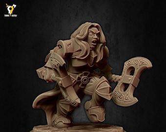 Dwarf warrior axe miniature Dungeons and dragons, pathfinder, DnD , frostgrave, mordheim | RPG tabletop miniature