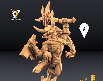 Demon warrior miniature imp Dungeons and dragons, DnD , Age of Sigmar, W40k, 9th Age, kow, mordheim   RPG tabletop miniature