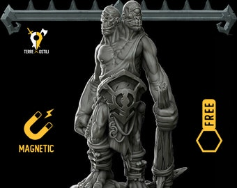 Ettin magnetic DnD miniatures | Dungeons and dragons D&D RPG tabletop miniature paint free initiative tracker