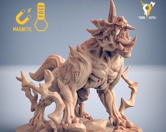 Ki-rin oni beast miniature Dungeons and dragons, pathfinder, DnD , Age of Sigmar, frostgrave, mordheim | RPG tabletop miniature