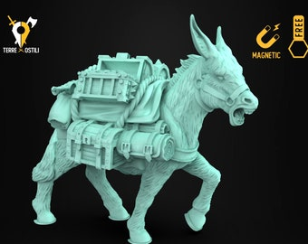 Donkey mule miniature animal companion familiar Dungeons and dragons, DnD , W40k, 9th Age, kow, mordheim | RPG tabletop miniature