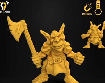 Goblin axe warrior heroquest miniature Dungeons and dragons, DnD , Age of Sigmar, W40k, 9th Age, kow, mordheim | RPG tabletop miniature