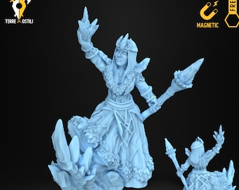 Ice frost witch wizard sorcerer miniature Dungeons and dragons, DnD , Age of Sigmar, W40k, 9th Age, kow, mordheim | RPG tabletop miniature