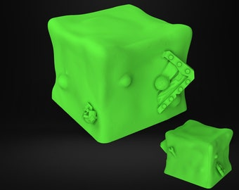 Gelatinous Cube ooze miniature Dungeons and dragons, DnD , Age of Sigmar, W40k, 9th Age, kow, mordheim | RPG tabletop miniature NS