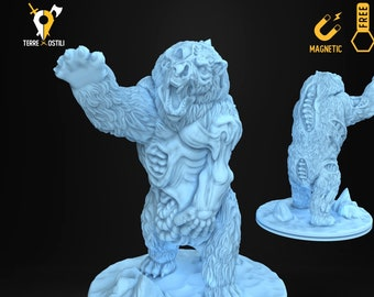 Undead bear polar miniature Dungeons and dragons, DnD , Age of Sigmar, W40k, 9th Age, kow, mordheim | RPG tabletop miniature