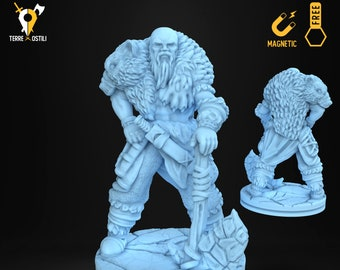 Ice tribe warrior brute miniature Dungeons and dragons, DnD , Age of Sigmar, W40k, 9th Age, kow, mordheim | RPG tabletop miniature