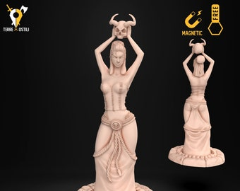 Pinup temple handmaid goddess famine miniature Dungeons and dragons, DnD , Age of Sigmar, W40k, 9th Age, mordheim | RPG tabletop miniature