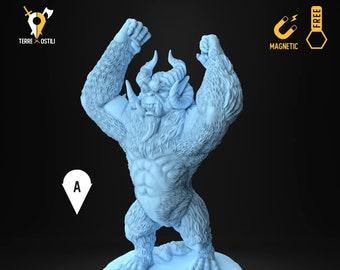 Yeti bigfoot miniature Dungeons and dragons, DnD , Age of Sigmar, W40k, 9th Age, kow, mordheim | RPG tabletop miniature