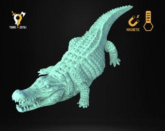 Crocodile alligator miniature animal companion familiar Dungeons and dragons, DnD , W40k, 9th Age, kow, mordheim | RPG tabletop miniature