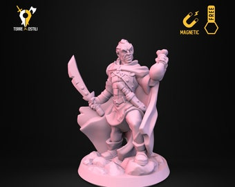 Bandit thief outlaw miniature Dungeons and dragons, pathfinder, DnD , Age of Sigmar, frostgrave, mordheim | RPG tabletop miniature
