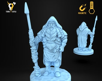 Hunter ice villager miniature Dungeons and dragons, DnD , Age of Sigmar, W40k, 9th Age, kow, mordheim | RPG tabletop miniature