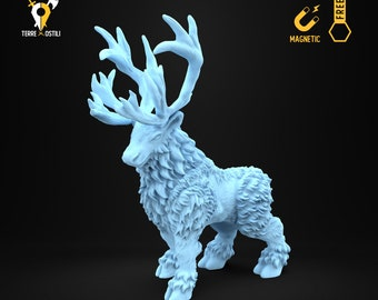 Caribou elk reinder miniature Dungeons and dragons, DnD , Age of Sigmar, W40k, 9th Age, kow, mordheim | RPG tabletop miniature